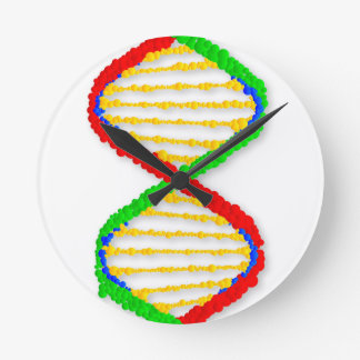 Twin DNA Strands Wallclocks