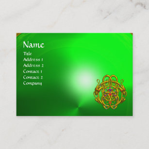 Modern celtic business cards profile cards zazzle ca twin dragons green emerald business card reheart Gallery