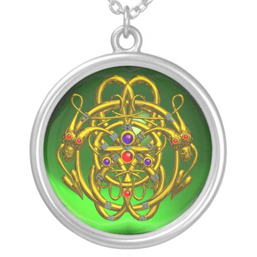 TWIN DRAGONS Green Emerald Jewelry