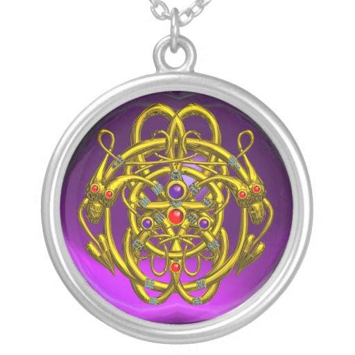 TWIN DRAGONS Purple Amethyst Jewelry