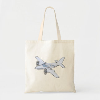 Twin-Engine Airplane Tote Bag