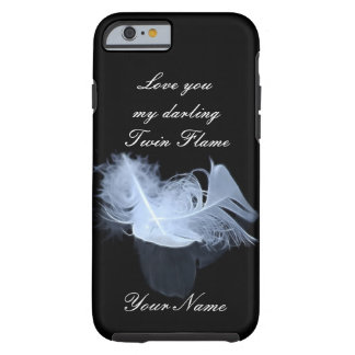 Twin flame feathers and reflection tough iPhone 6 case