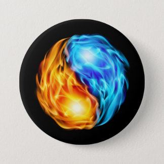 Twin Flames 3 Inch Round Button
