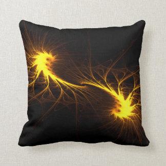 Twin Flames -Abstract Fractal Soul Mate Art Pillow