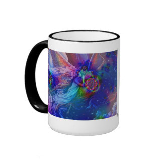 Twin Flames Rising Into Heaven Ringer Coffee Mug