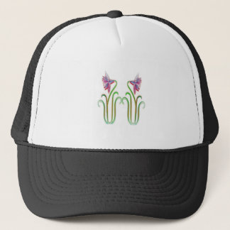 Twin Flowers Illustration Art on Tshirts Jersey 99 Trucker Hat