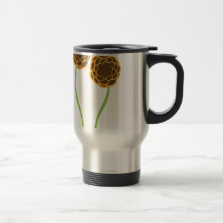 Twin Flowers Stainless Steel Travel Mug