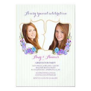 twins graduation invitations zazzle ca