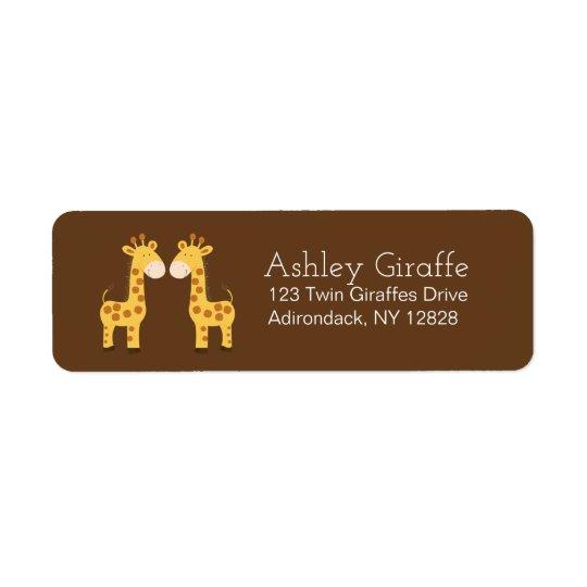 Twin Giraffes Address Labels