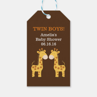 Twin Giraffes Baby Shower Gift Tag Pack Of Gift Tags