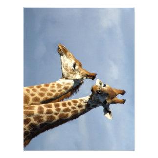 Twin Giraffes Letterhead Design