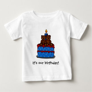 Twin girl-boy Birthday t-shirts