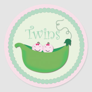 Twin Girl Cupcake Toppers & Stickers