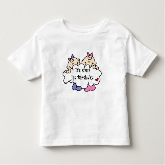 Twin Girls 1st  Birthday Tshirts and Gifts