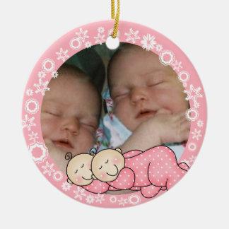 Twin Girls 1st Christmas Ornament