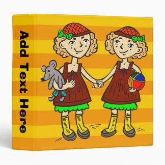 Twin Girls Binder