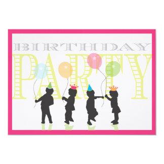 Twin Girls Birthday Invitation - Pink