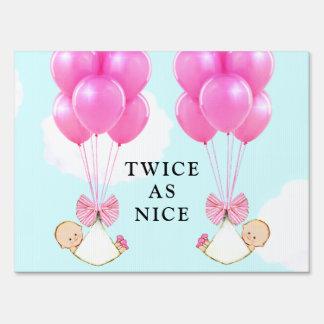 Twin Girls Sign