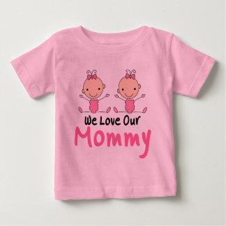 Twin Girls Stick Figure Babies Tee Shirt