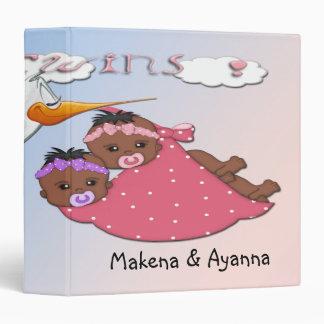 Twin Girls - Stork B Keepsake Baby Book Binders