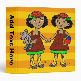 Twin Girls Vinyl Binders