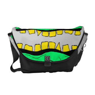 Twin Goblin Heads Messanger Bag Messenger Bag