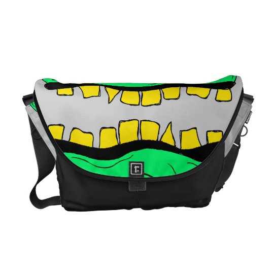 Twin Goblin Heads Messanger Bag Messenger Bag