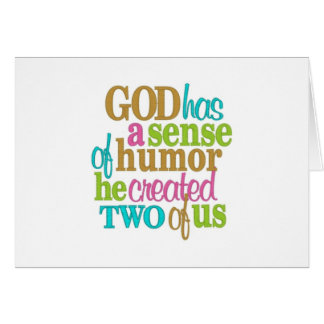 "TWIN-GOD HAS A ""SENSE OF HUMOR""-LOOK AT US CARD"