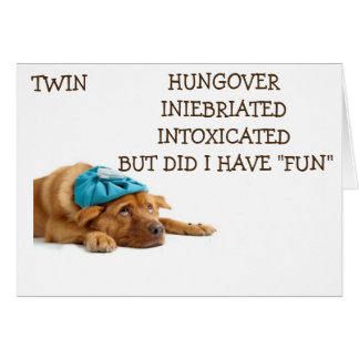 TWIN-HAD FUN CELEBRATING OUR BIRTHDAY-INEBRIATED! CARD