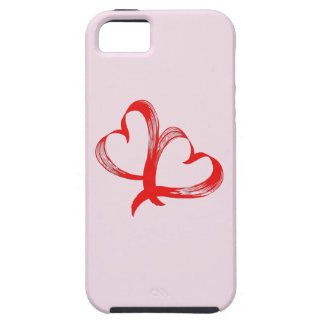 Twin Hearts Valentine Pink Case For The iPhone 5