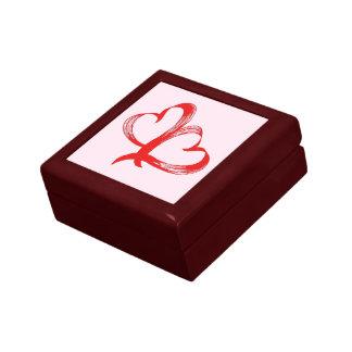 Twin Hearts Valentine Pink Gift Box