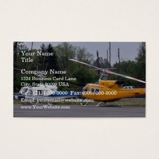 Twin Huey helicopters with trees in background Business Card