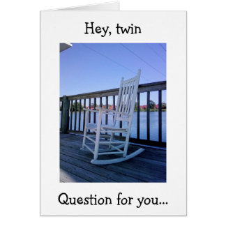 TWIN HUMOR - BIRTHDAY ROCK OR ROCK AND ROLL? CARD