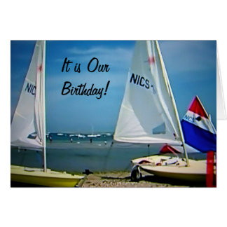 """TWIN-I'M HAPPY I SHARE MY BIRTHDAY WITH """"YOU"""" CARD"""