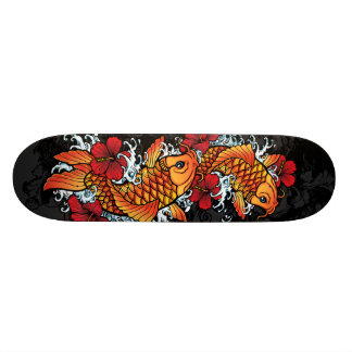 Twin koi skateboard decks