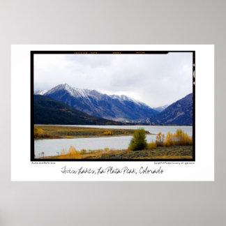 Twin Lakes below La Plata Peak, Colorado Poster