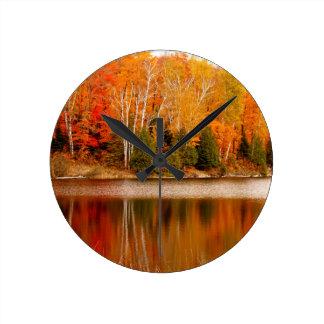 Twin Lakes Fall Colours, St Joseph Island Clocks