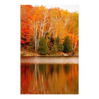 Twin Lakes Fall Colours, St Joseph Island Stationery Paper