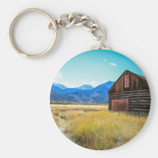 Twin Lakes, Leadville, Colorado Basic Round Button Keychain