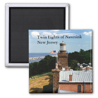 Twin Lights of Navesink, New Jersey Magnet