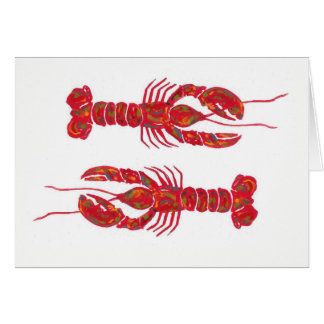 Twin Lobsters Cards