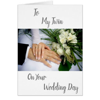 ***TWIN LOVE*** ON YOUR ***WEDDING DAY*** CARD