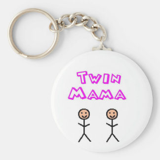 Twin mama keychain