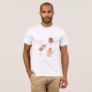 Twin Mice Catching a Strawberry T-Shirt