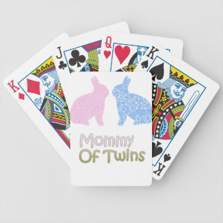Twin Mommy Bicycle Playing Cards