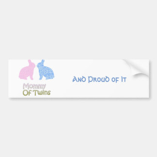 Twin Mommy Bumper Sticker