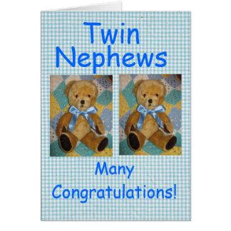 Twin Nephews Card