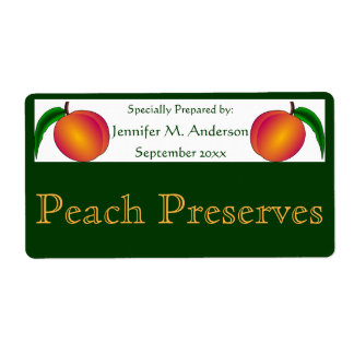 Twin Peaches Framed in Green Homemade Food