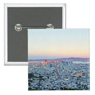 Twin Peaks San Fransisco 2 Inch Square Button