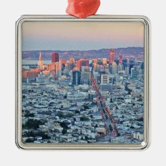 Twin Peaks San Fransisco Metal Ornament